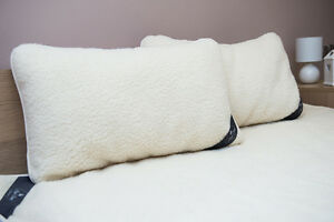Wool Pair of Pillows Lambswool Pillows Standard size  Perfect Gift Wool Cover