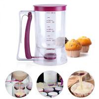 Cupcake Batter Dispenser Tool With Measuring Label No Drip 900ml Dough Capacity