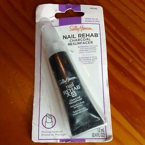 Sally Hansen Nail Cuticle Rehab Charcoal Resurfacer .4oz Exfoliator 46245