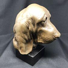More details for vintage art dog ltd edition 35/500 marble basset hound bust statue larger size