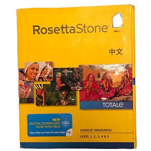 Rosetta Stone Chinese Mandarin Levels 1,2,3,4,&5 Headset, Download TOTALe