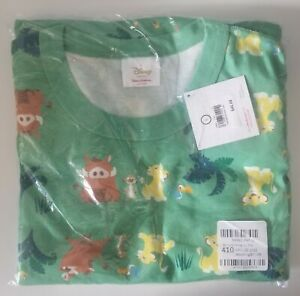 NWT Hanna Andersson Organic Pajama Top Men's L Women's XL DISNEY LION KING
