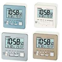 CASIO PORTABLE TRAVEL CLOCK DQ-981 - ALARM, THERMOMETER, HYGROMETER, LED LIGHT
