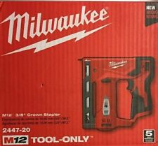 "Brand New Milwaukee 2447-20 M12 3/8"" Crown Stapler (Tool Only)"