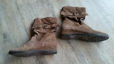 Herbst Tamaris Größe 37 Damen Schuhe Booties Stiefel braun Keilabsatz warm