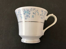 China Pearl HELEN Blue Flowers, Platinum Trim - TEA CUP