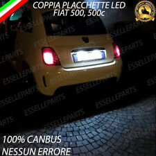 COPPIA LUCI TARGA 18 LED FIAT 500 500C CANBUS ABARTH 6000K NO ERRORE