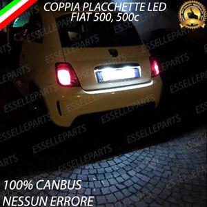 COPPIA LUCI TARGA 18 LED FIAT 500 500C CANBUS ABARTH 6000K NO ERRORE