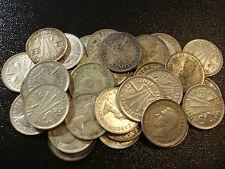 Australian Predecimal Threepence 3d Bulk Silver Coins 10pc