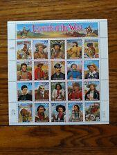 US SCOTT 2869 LEGENDS OF THE WEST 29 CENT FACE SOUVENIR SHEET OF 20 MNH
