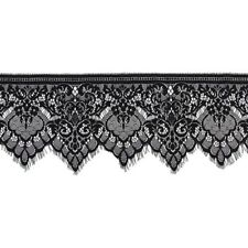 Wide Lace Trimming DIY Sewing Applique 3 Yard 19cm X5Z2