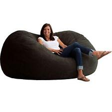 Extra Large Bean Bag Chair Black Oversized Lounger Sleeper Memory Foam Adult