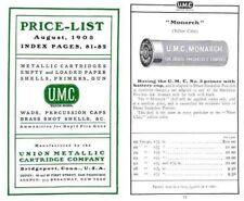 Union Metalic Cartridge Company (UMC) 1903 Ammunition Catalog