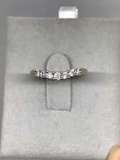 14k White Gold Anniverary Band With 7 Diamonds Size 7