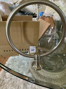 Pottery Barn Hayden Towel Ring in Chrome Silver Ships Free New In Box