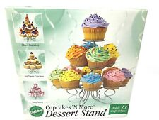 Wilton Cupcakes 'N More STAND 3 Tier Silver 13 Cupcakes Count 2005