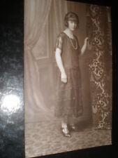 More details for  old postcard art deco woman necklace c1920s ref 38z(2)