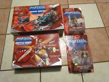 NEW Masters Of The Universe: He-Man 2002 LOT BATTLE HAWK BASHIN BEETLE SMASH