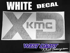"XD SERIES DECAL KMC XD 12"" WHITE Die Cut STICKER DECAL 12x5.5"" PART# 900-12-W"