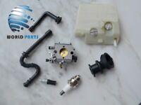Carburetor Carb Kit For STIHL MS240 MS260 024 026 Walbro WT-194 Fuel Line Filter