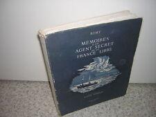 1946.mémoires d'un agent secret / Remy.T2.N° sur BFK.guerre 39-45