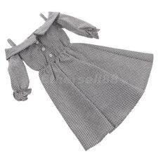 Cute off épaule motif écossais à lanières robe tenue pour 1/3 bjd sd dod doll clothes