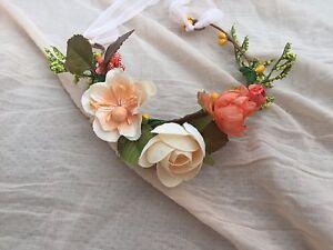 Babies pip berry head wreath head halo Flower Crown newborn Floral tieback 0-6yr