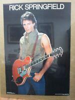 Vintage Poster Rick Springfield Rock n' Roll 1982 Inv#G1647