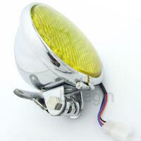 """Chrome 5"""" Motorcycle LED Headlight Head Lamp For Harley Bobber Chopper Touring"""