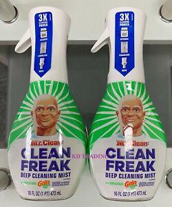 (2-pack) Mr. Clean Freak Multi Surface Deep Clean Mist Spray 16oz Original Gain