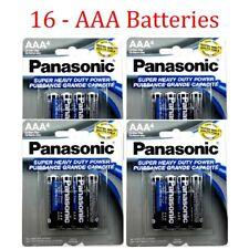 16 Wholesale Panasonic AAA Triple A Batteries heavy Duty Battery 1.5v Bulk lot