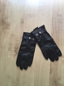 Paul Costello Black Leather Driving Gloves - S/M