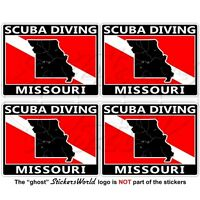 "MICHIGAN SCUBA DIVING Flag-Map Shape USA 50mm 2/"" Circular Stickers Decals x4"