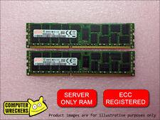 16GB (2x 8GB STICKS) DDR3 PC3-10600R REGISTERED ECC SERVER RAM MEMORY DIMM