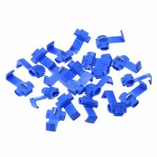 20pcs Blue Wire Lock Terminals Crimp Clip Fastener Insulator Tap for 14 -16 AWG