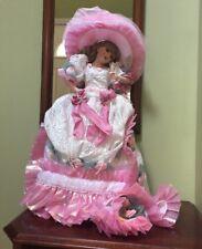 "MARYSE NICOLE Franklin Mint Heirloom Blushing Rose Doll porcelain 20"""