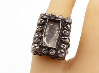 TAXCO 925 Silver - Vintage Antique Oxidized Swirl Cocktail Ring Sz 7 - R18407