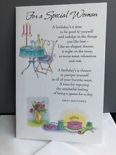 Emily Matthews For A Special Woman Glittered American Greetings Birthday Card