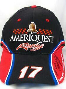 NASCAR Matt Kenseth #17 Signed Hat Ameriquest Roush Racing Adjustable Cap