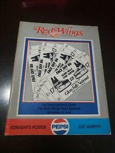 Adirondack Red Wings AHL Hockey  Program 12/17/1986 vs. Moscow Spartak Unscored