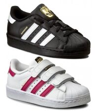 ADIDAS SUPERSTAR I BB9078 scarpe bambino bambina sportive sneakers pelle nero