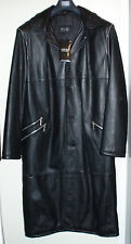 VERSACE Orig. leather coat, Mantel aus Leder, manteau de cuir, mantello di cuoio