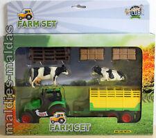 Kids Globe Farm Traktor grün Spielset mit Zubehör 510727 NEU/OVP Bauernhof