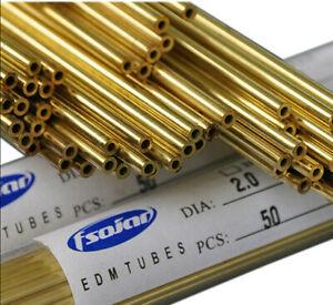 Ø0.3-Ø2.5X400mm EDM Drilling Electrodes Single-Channel Brass Copper Tube 100pcs