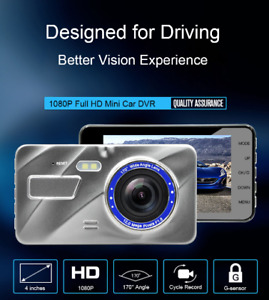 4 inch Full HD 1080P Dual Lens Car DVR Vehicle Blackbox Portable Dash Cam Origin
