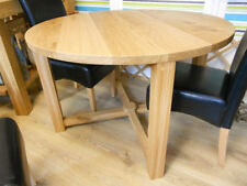 Solid Wood Less than 60cm Round Kitchen & Dining Tables
