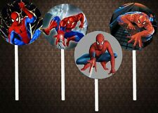 Spiderman 2sided Cupcake Toppers lot 12 pieces cake Party Supplies favors