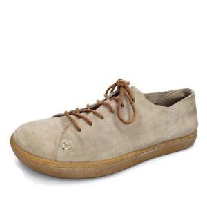 Birkenstock Arran Taupe Suede Lace Up Sneaker Comfort Shoes EUR Size 40 US 9