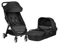 Baby Jogger City Tour 2 Stroller w Bassinet Kit Pram Travel System Jet NEW