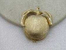 "Vintage Gold Tone Apple Brooch/Pendant,  1960's-1970's, 2275"""